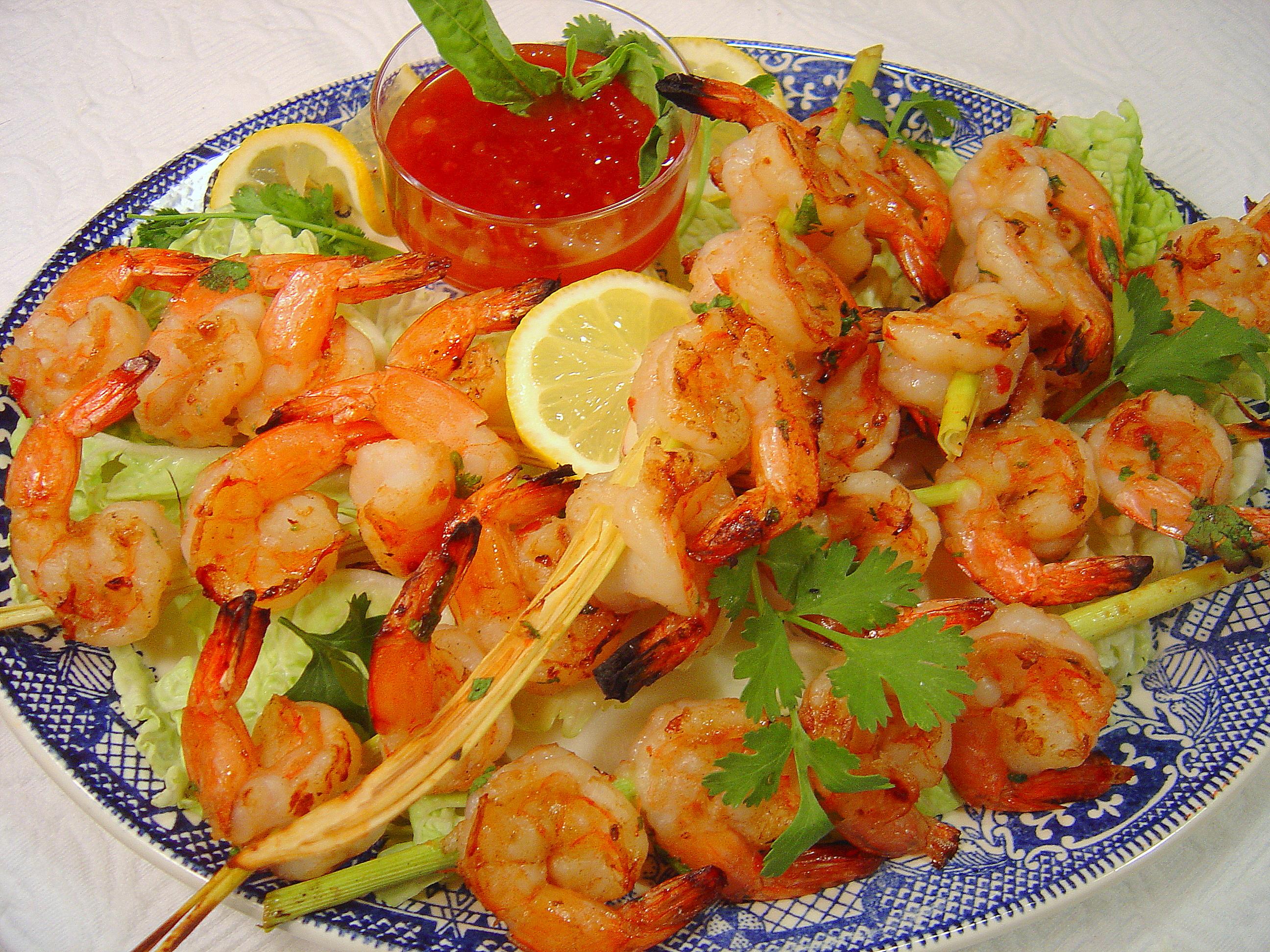 Lemongrass Grilled Shrimp | A Palatable Pastime
