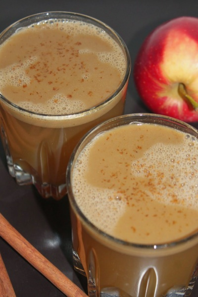 Hot Buttered Spiced Apple Cider with Rum