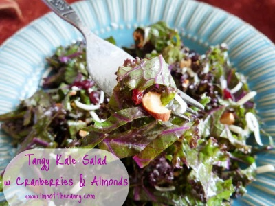 Tangy Kale Salad withCranberries and Almonds