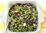 Pea Salad with Cranberries, Almonds and Mint