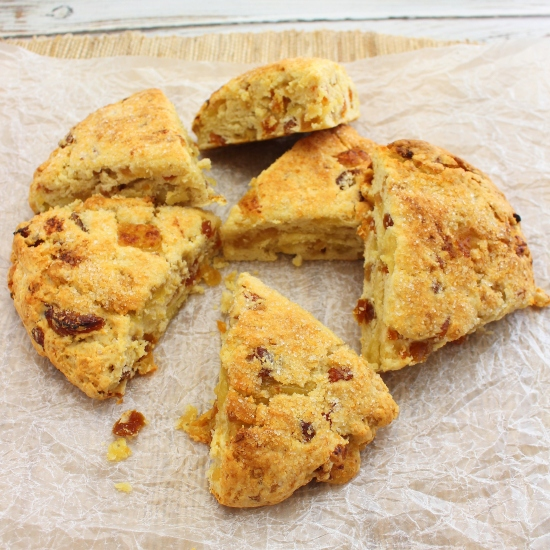 Scones with Apricot Ginger and Brie