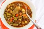 Vegetable Beef Soup#SoupWeek