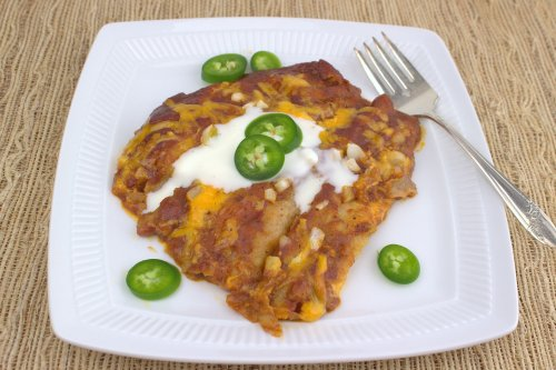 Cheese Enchiladas Rojas