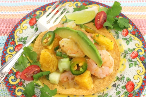 Margarita Shrimp Tostadas