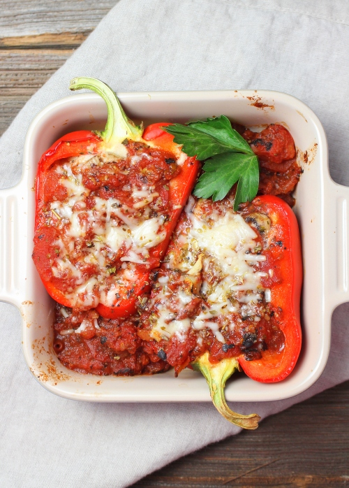Italian Stuffed Peppers with Ricotta