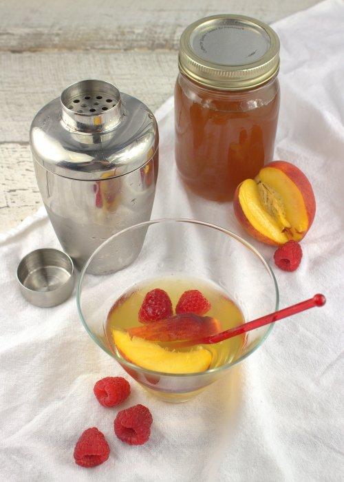 White Peach and Honeysuckle Martini