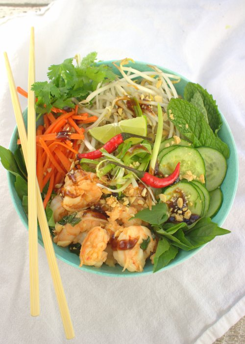 Lemongrass Shrimp Rice Bowls #FishFridayFoodies
