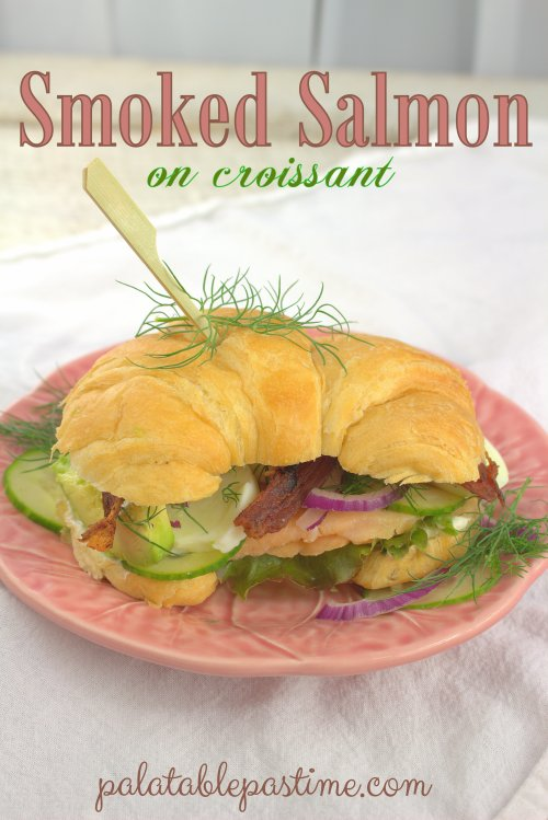 Smoked Salmon on Croissant