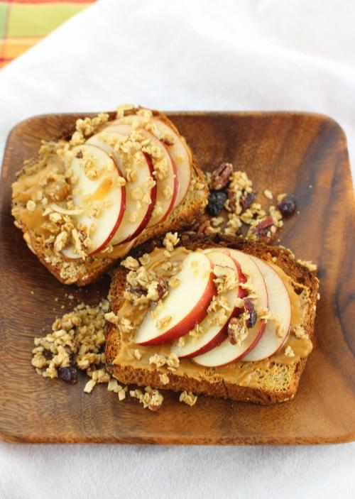 Apple Granola Cookie Butter Toast