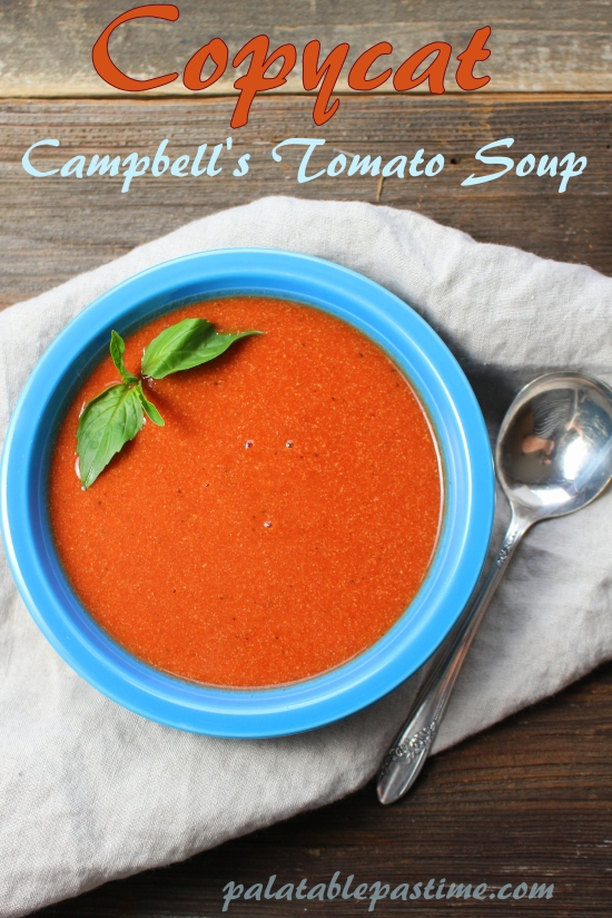 copycat campbell s tomato soup soupswappers. Black Bedroom Furniture Sets. Home Design Ideas
