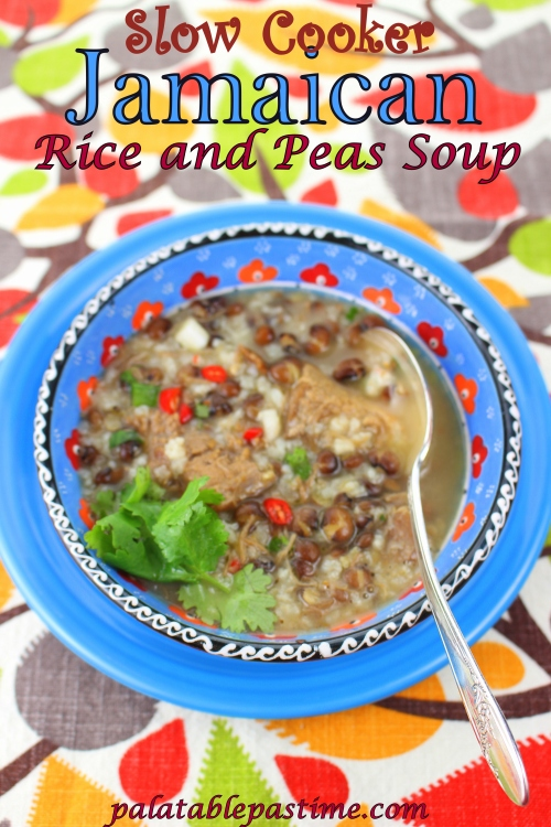 Slow Cooker Jamaican Rice and Peas Soup