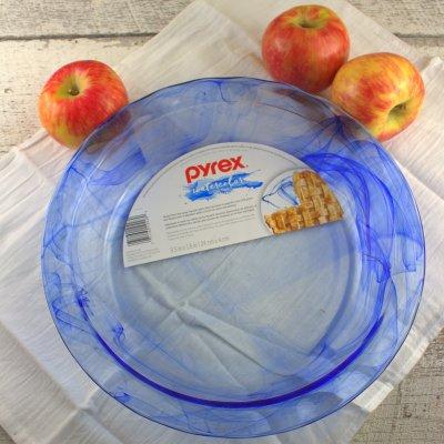 Pyrex Watercolor Pie Plate